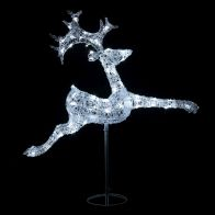 See more information about the Acrylic Jumping Reindeer White LED Garden Decoration