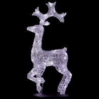 See more information about the Acrylic Standing Reindeer White LED Garden Decoration