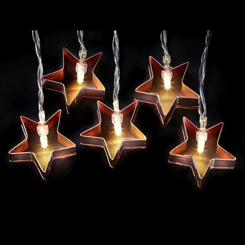 20L LED Light chain Copper - Star