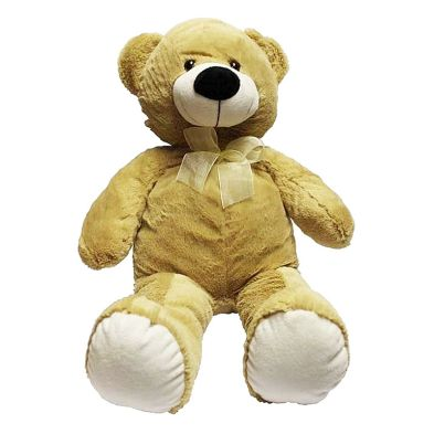 40cm Sitting Bear Harvey Light Brown Soft Toy