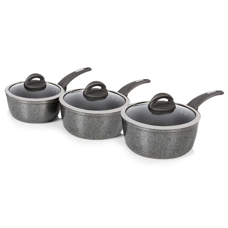 3 Piece Forged Pan Set With Cerastone Coating - Graphite