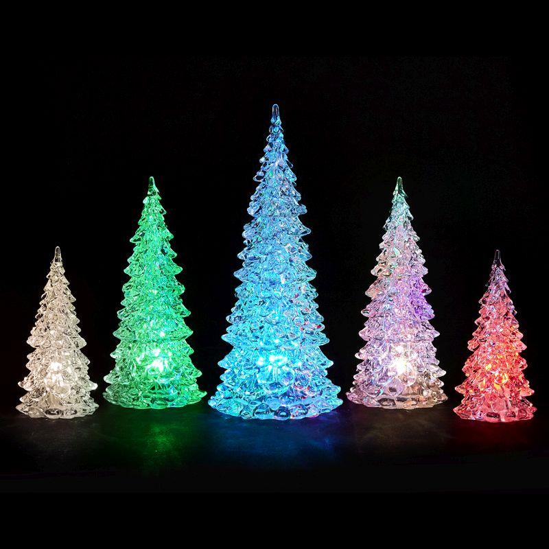 Christmas Tree Uk Online: Bright Garden Set Of 5 Led Christmas Trees