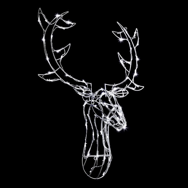 Reindeer Head LED Christmas Rope Light
