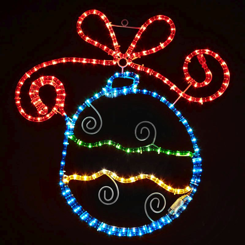 Led Rope Light Tinsel Bauble: Christmas Bauble LED Rope Light