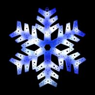 See more information about the 36 LED Blue & White Outdoor Animated Snowflake Star Light 40x40cm