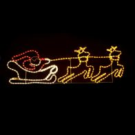 See more information about the LED Double Reindeer with Sleigh Christmas Rope Light