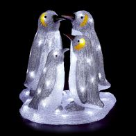 See more information about the 4 Piece Acrylic Penguin Family