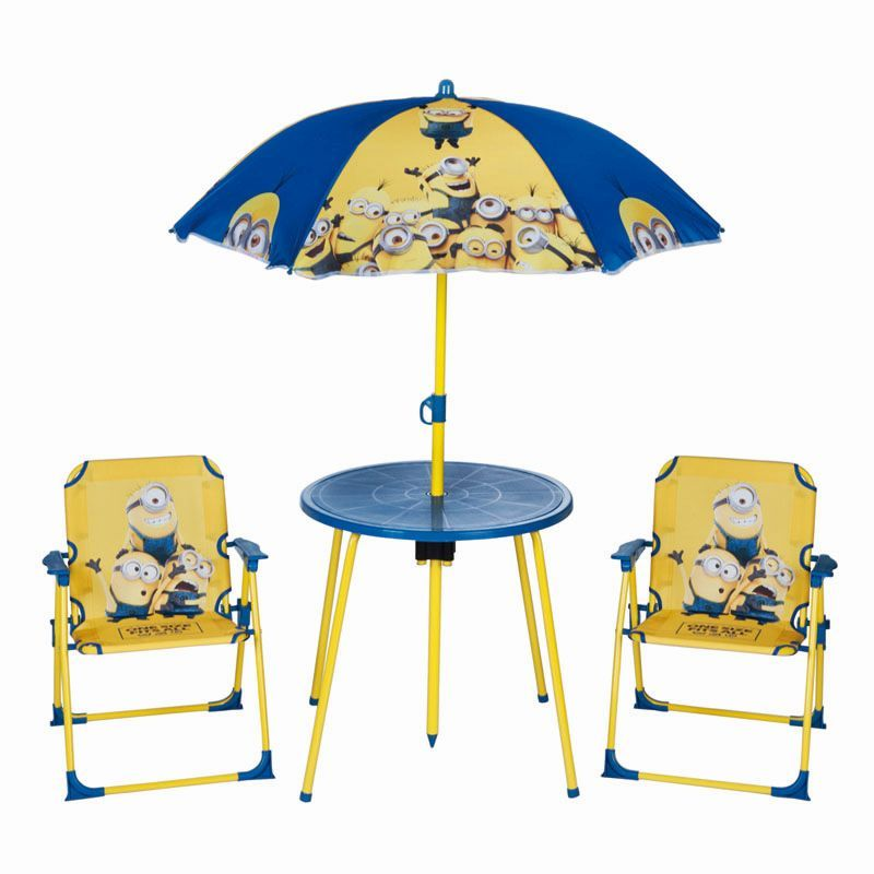 see more information about the kids minions garden furniture set