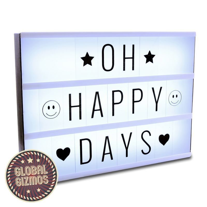 Global Gismos LED Light Box (With Letters) 30 x 22 x 5.5cm