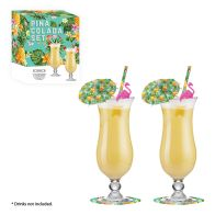 See more information about the Pina Colada Cocktail Kit Gift Set