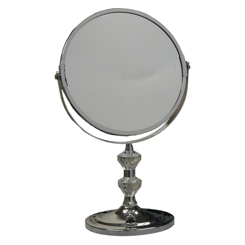 Chrome Plated Metal Bathroom Mirror