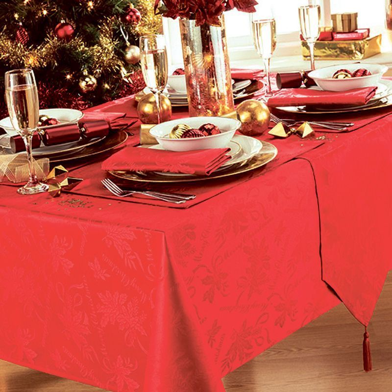 4 Pack Napkins Red Garland