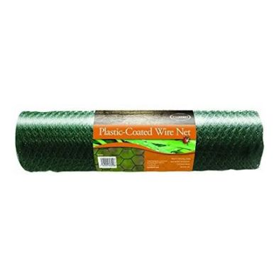 0.5m x 5m Plastic Coated Garden Wire Net Green 13mm