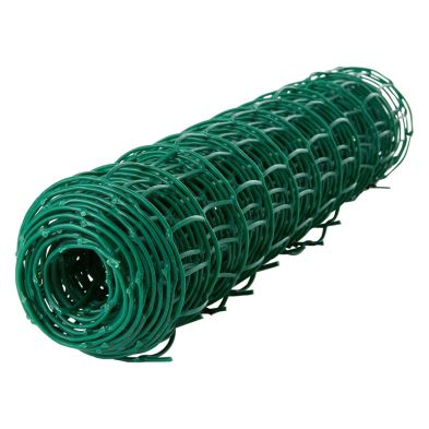 0.5m x 5m Plastic Coated Garden Wire Net Green 25mm