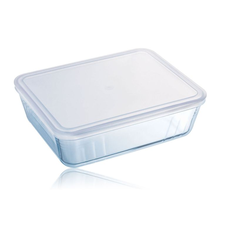 Pyrex Rect Dish with Plastic Lid 4ltr