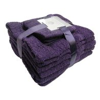 See more information about the Toronto Bath Towel Bale 10 Piece Set (Purple)