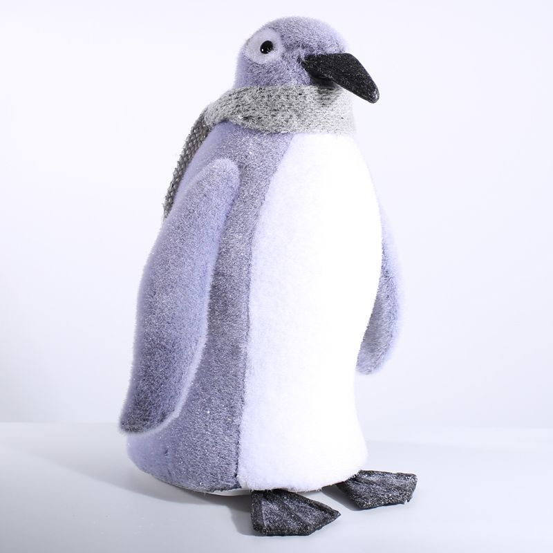 Foam Penguin With Grey Scarf (46cm) Christmas Decoration