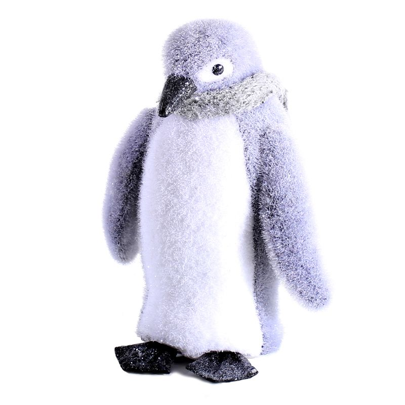 Foam Penguin With Grey Scarf (27cm) Christmas Decoration