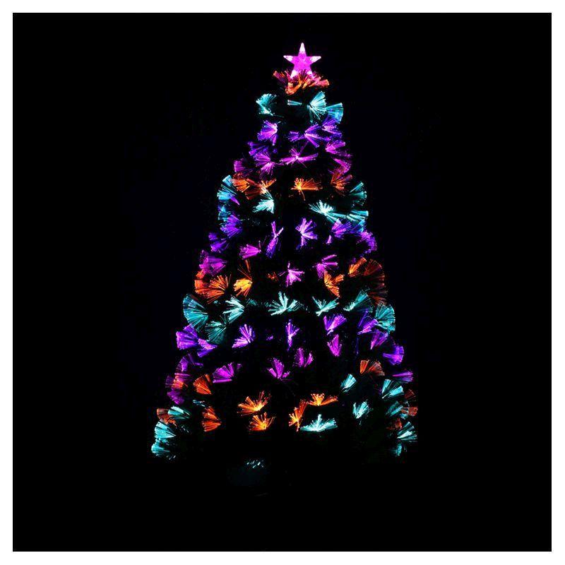 150cm 5 Foot Green Starburst Fibre Optic Led Christmas