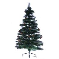 See more information about the 120cm (3 Foot 11 Inch) Green Cone & Berries Fibre Optic Christmas Tree
