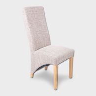 See more information about the Baxter Wave Back Dining Chair Beige