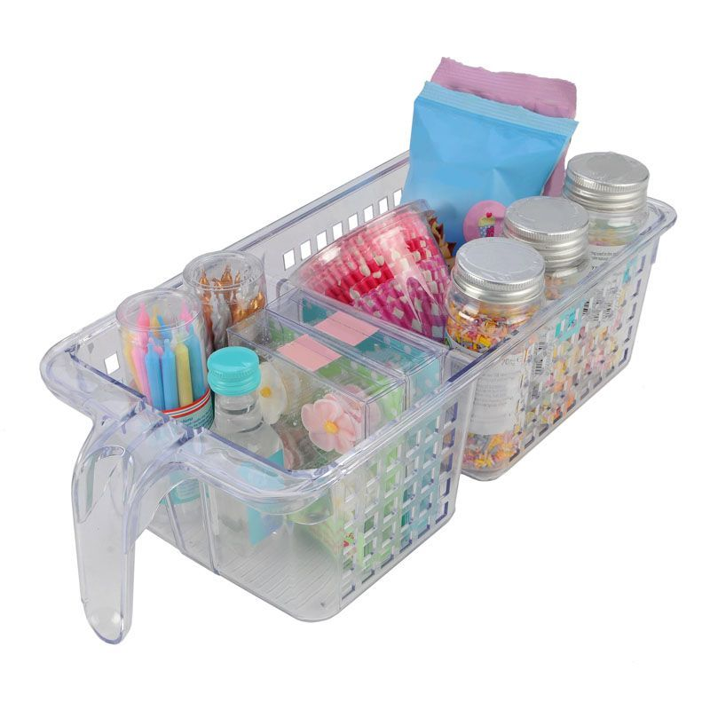 Basket Divided 2 Section Kitchen Organiser