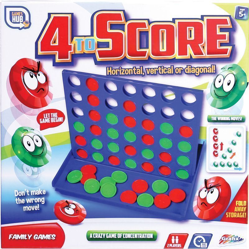 Games Hub 4 To Score Board Game