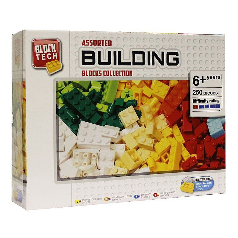 Block Tech Building Blocks Collection 250 Assorted Colours