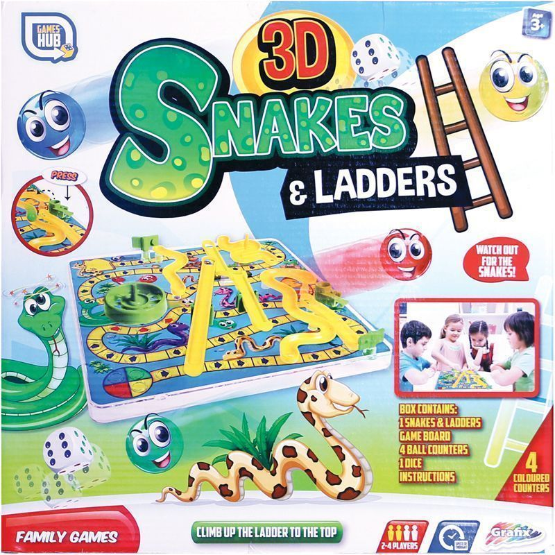 3D Snakes & Ladders Board Game