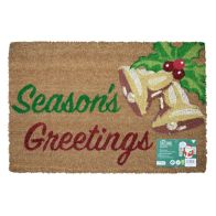 See more information about the JVL Christmas Coir Door Mat 40 x 60cm Seasons Greetings & Bells