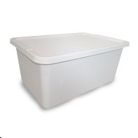 See more information about the 45L Simply Rattan Stacking Plastic Storage Cream Box & Clip Lid
