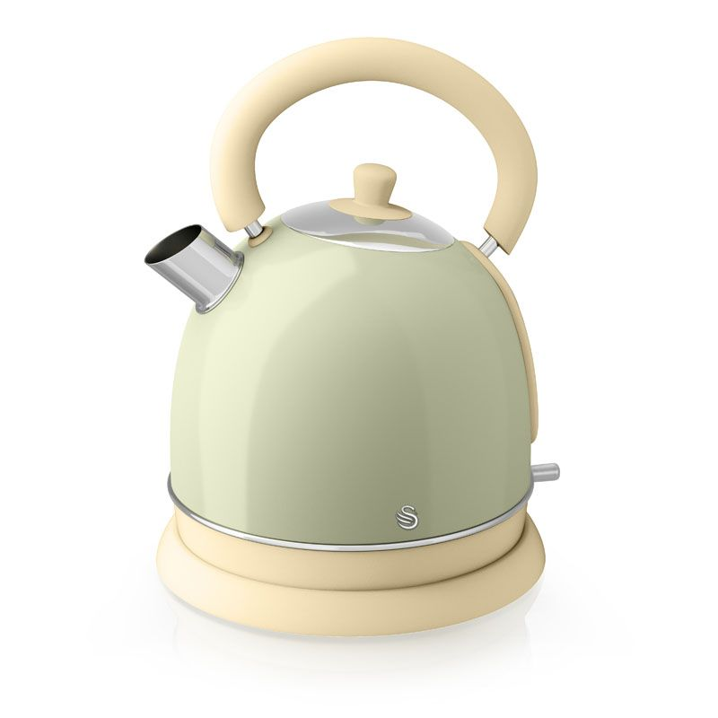 1.8 Litre Retro Dome Kettle Green
