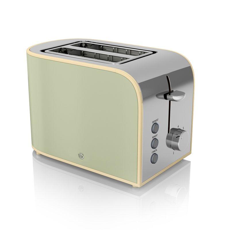 2 slice retro toaster green buy online at qd stores. Black Bedroom Furniture Sets. Home Design Ideas