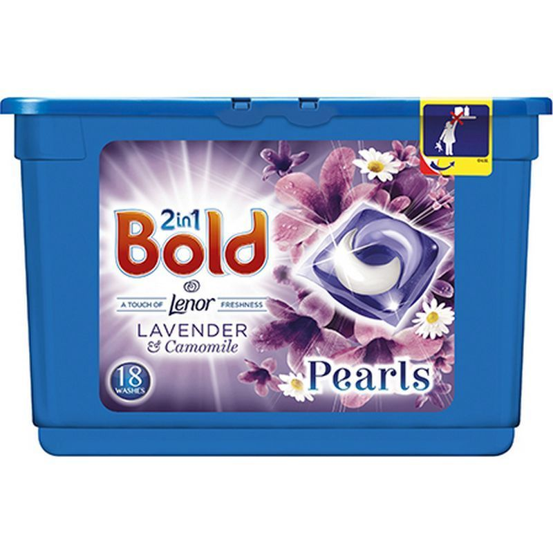Bold 2In1 Pearls Capsules Lavender and Camomile 18 Washes