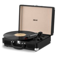 See more information about the Rechargeable Turntable in faux Black Leather Case