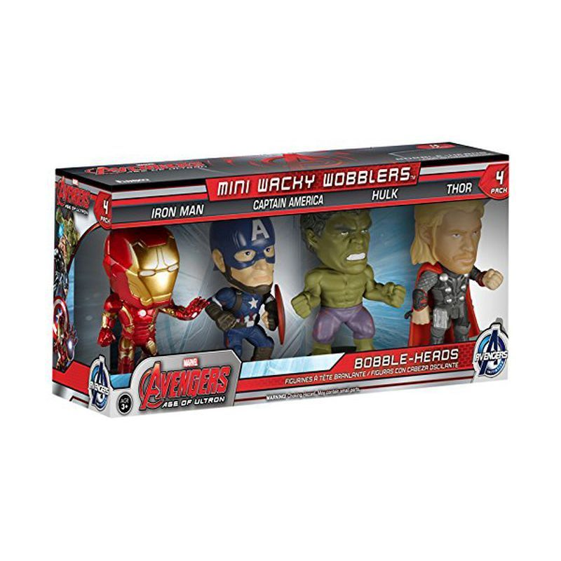Avengers Age Of Ultron Wacky Wobblers Mini 4 Pack