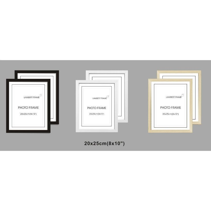 2 Pack MDF Perfect Grace Frames 8x10 Inch - Natural Wood Grain
