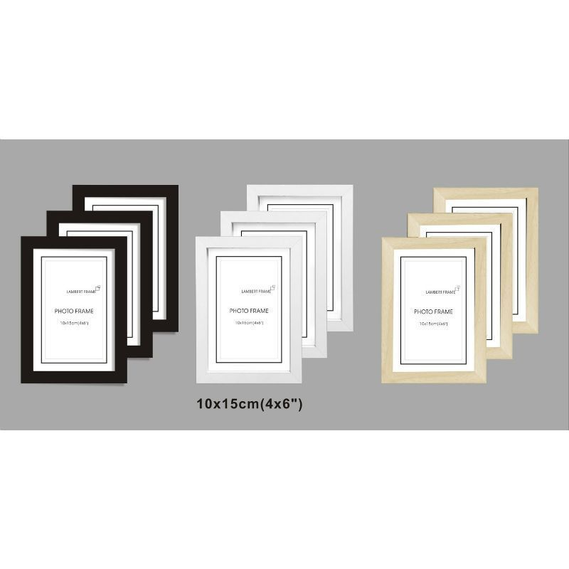 3 Pack MDF Perfect Grace Frames 4x6 Inch - Black