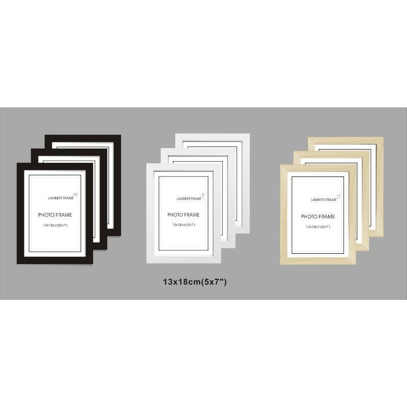 3 Pack MDF Perfect Grace Frame 5x7 Inch - White