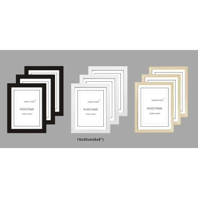 3 Pack MDF Perfect Grace Frame 6x8 Inch - Black