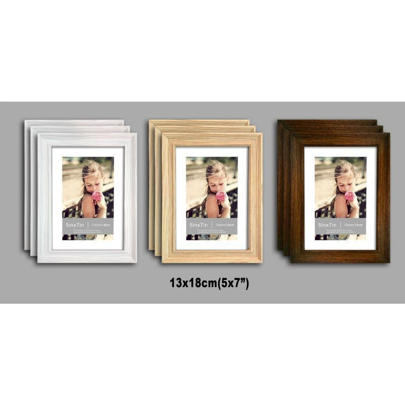 3 Pack of MDF New Grace Picture Frame 5x7 Inches - White
