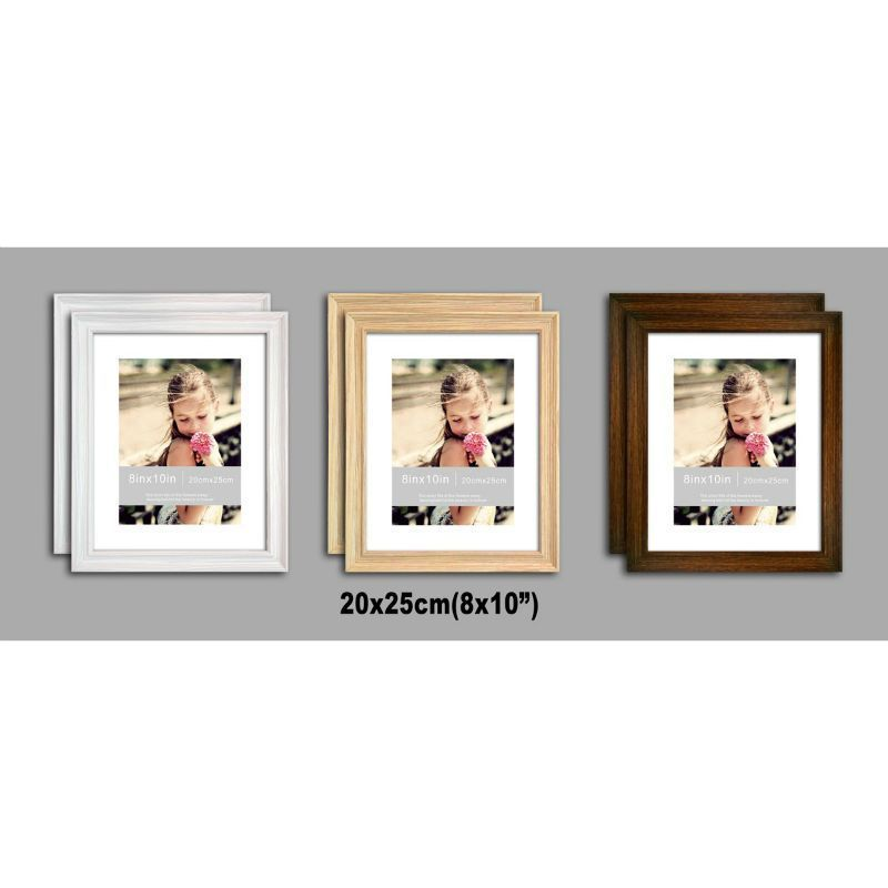 2 Pack of MDF New Grace Picture Frame 8x10 Inches - Black