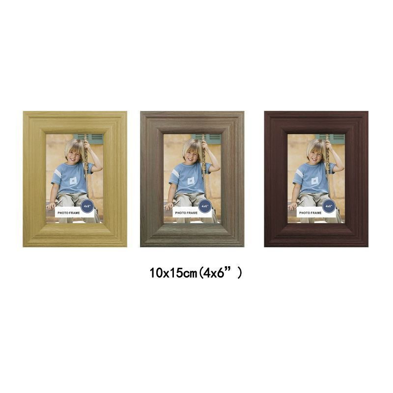 MDF Wood Grain Stylish Frame 4x6 Inch - Ash Wood