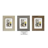 See more information about the Single Matted 50mm MDF Picture Frame 6x8 Inches - Grey Wood