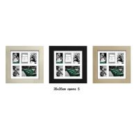 See more information about the MDF 30mm Collage Picture Frame 35x35cm 5 Spaces - Black