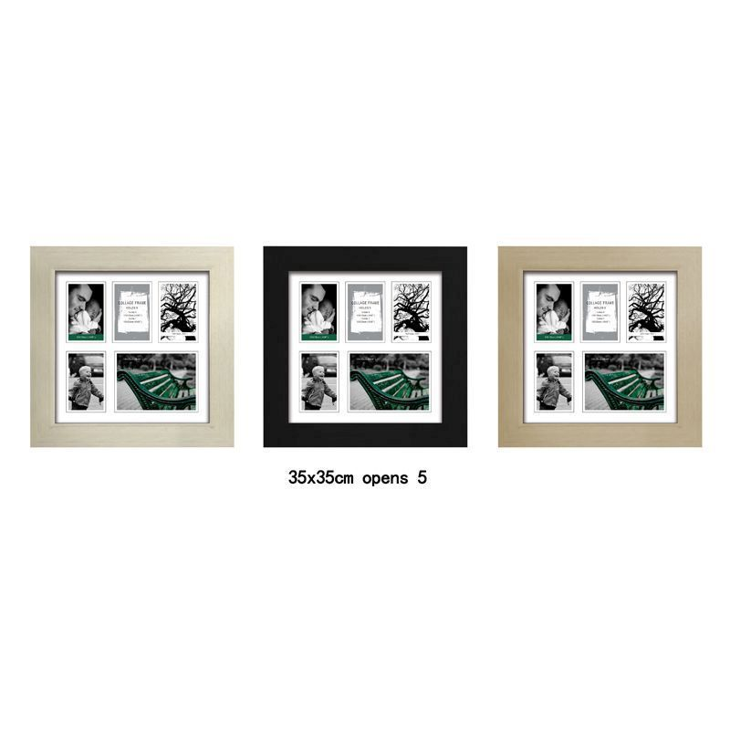 MDF 30mm Collage Picture Frame 35x35cm 5 Spaces - Black