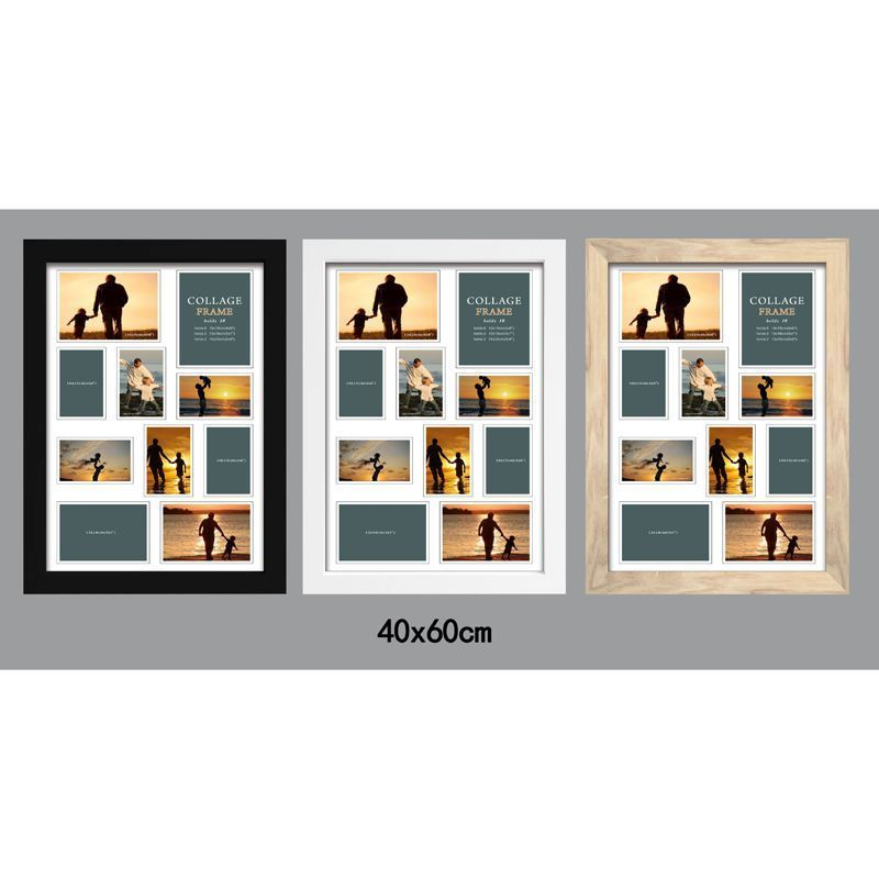 MDF 40mm Flat Collage Picture Frame 40x60cm 10 Spaces - Black
