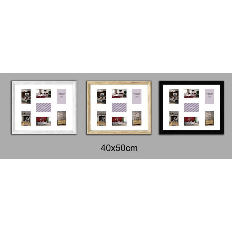 Collage Picture Frame 40x50cm 7 Spaces - White