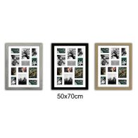 See more information about the Collage Picture Frame 50x70cm 12 Spaces - Black