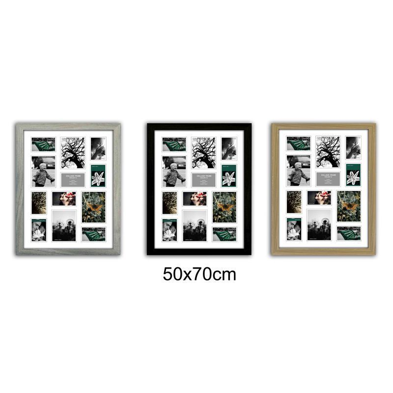 Collage Picture Frame 50x70cm 12 Spaces - Grey